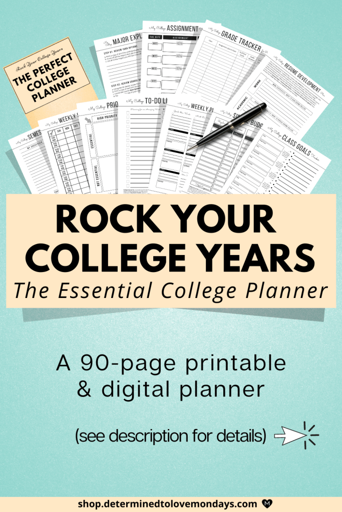 Rock your college years college student planner