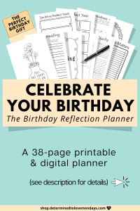 Birthday Reflection Planner