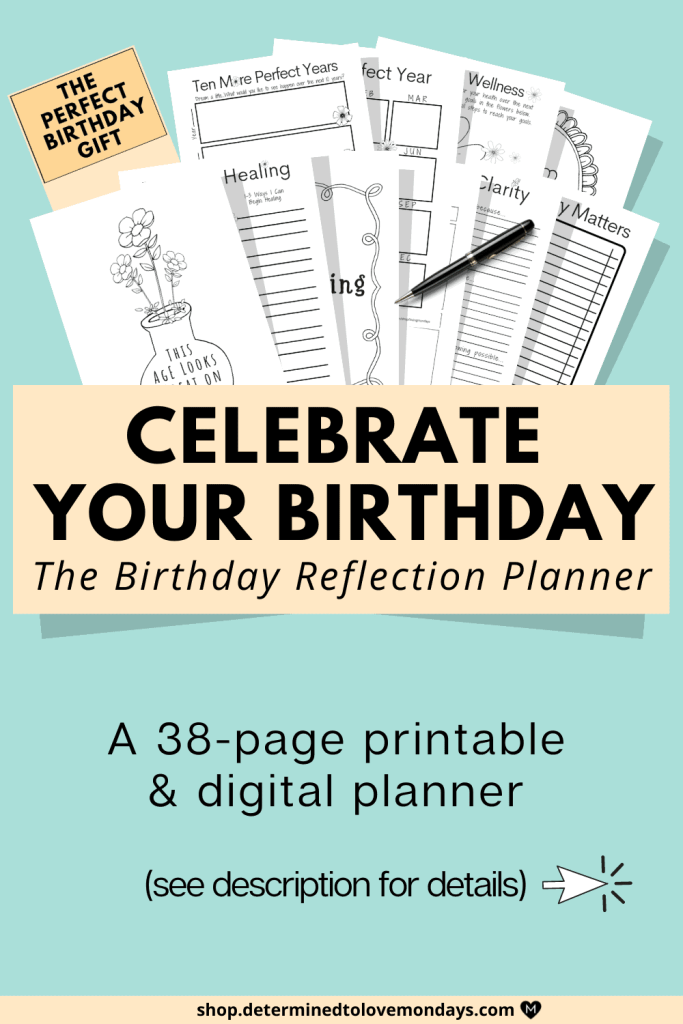 Birthday Reflection Planner