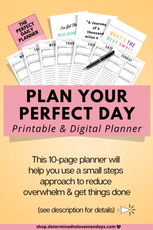 Daily Planner to get organized and get things done
