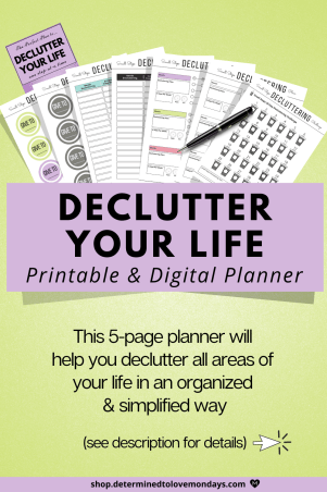 Declutter Planner to Organize Your Life in a Simplified Way