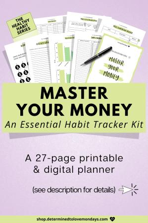 Improve your finances habit tracker kit
