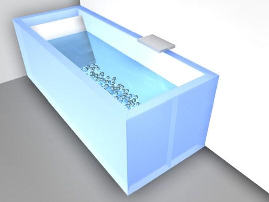 """""""Bath in Motion"""" von Prisca Schank"""