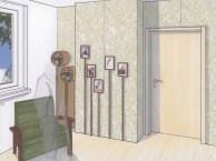 """Die flexible Funktionswand bietet dem Altenheim die Möglichkeit flexibel mit den Bedürfnissen von neuen Bewohnern einzugehen, indem sie die Variation des Grundrisses ermöglicht. Durch die Leichtbauweise der Zwischenwand zweier Bewohnerzimmer können z.B. zwei einzelne Zimmer zu einem großen Zimmer erweitert werden. Des Weiteren können durch Aussparungen in den Wänden Funktionen zu dem Zimmer hinzugefügt werden, z.B. ein kleiner Tisch oder ein weiteres Regal. So schafft die flexible Wand neuen Raum für den Bewohner und bietet die Möglichkeit auf verschiedene Bedürfnisse einzugehen. Die Leichtbauwand kann an eine schon bestehende Wand angebaut, oder anstelle der massiven Wand zwischen zwei Bewohnerzimmern eingebaut werden. Es besteht die Möglichkeit eine Tür in die Trennwand zwischen den Zimmern einzubauen. Die Leichtbauwände bieten auch die Möglichkeit, die Wand nach eigenen Vorstellungen zu """"bespielen"""". Mit verschiedenen Modulen kann die Wandfläche so nach eigenen Bedürfnissen gestaltet werden."""