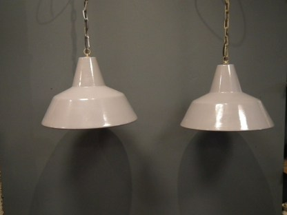 Lamp emaille grijs