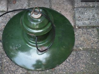 lamp emaille groen 21