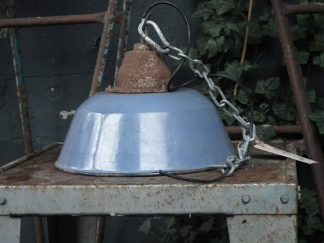 Grijs emaille lamp 2