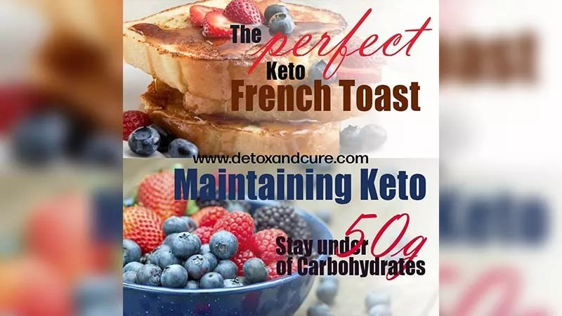 vegan french toast sea moss recipe with layers of vegan french toast drizzled with maple syrup and dressed with freshly cut strawberries, raspberries and blueberries