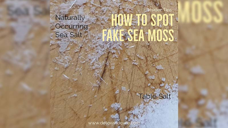 salt on sea moss and how to spot fake sea moss