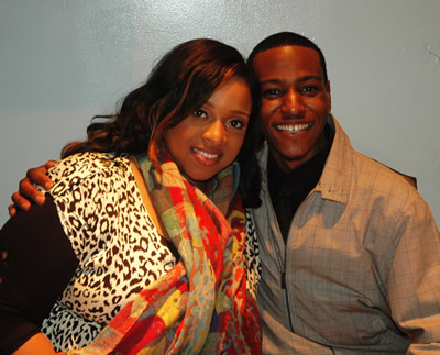 Kierra Sheard and Hatten Young at Meet & Greet for Live Recording
