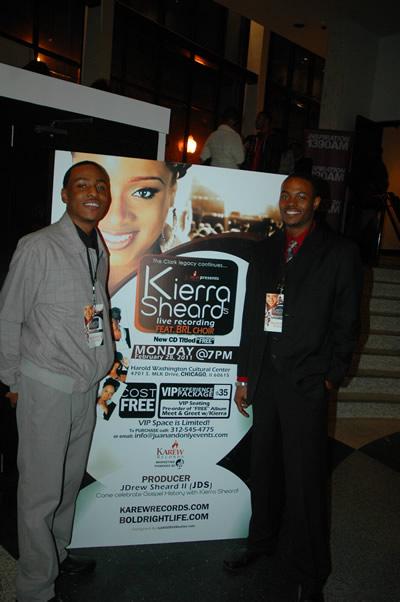 DetroitGospel.com staffers, Hatten Young and Rick Leeat Kierra Sheard Live Recording