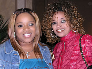 Kiki Sheard w/mom, Karen Clark Sheard