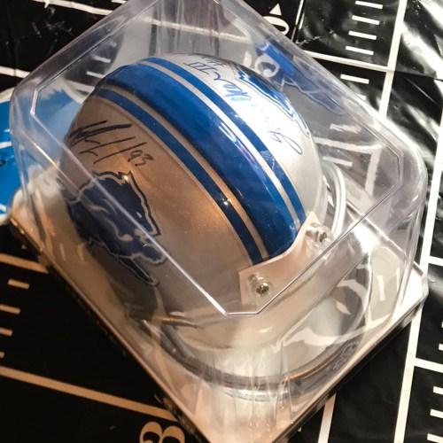 Da'Shawn Hand and Tracy Walker Signed Mini Helmet