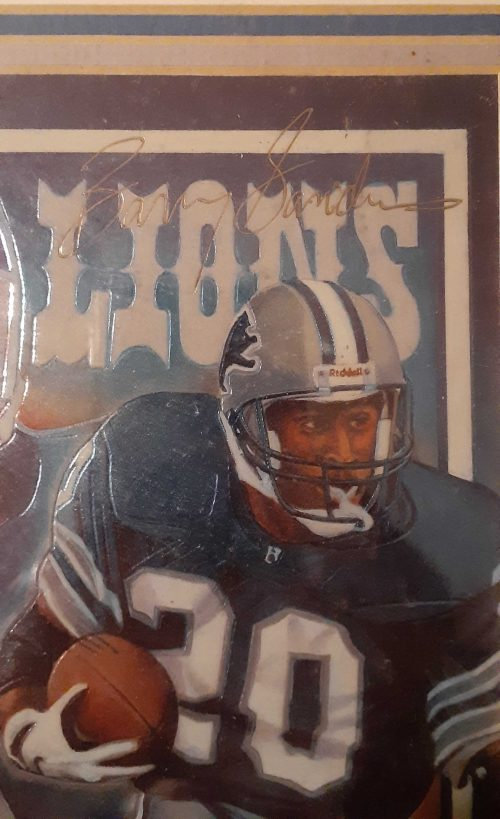Barry Sanders Limited Edition Lithograph