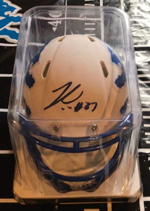 Justin Coleman Detroit Lions Mini Helmet (Eclipse)