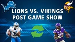 Detroit Lions Podcast Minnesota Vikings Post Game