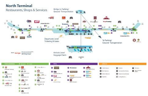 Metro Airport Terminal Map North Terminal Map   Detroit Airport | Detroit Metro Airport