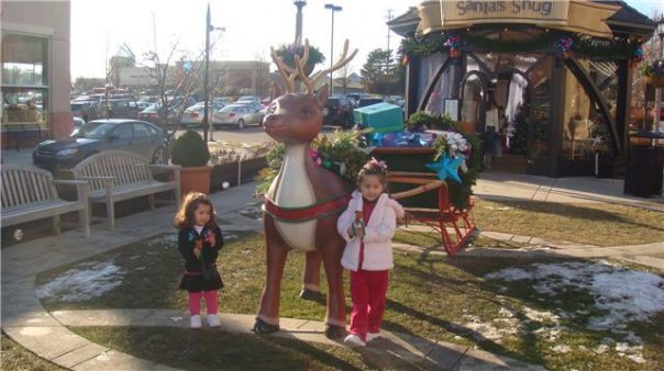santa at the village