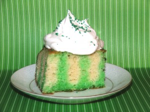 Low Calorie St. Patrick's Day Poke Cake