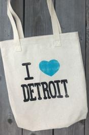 I <3 Detroit tote
