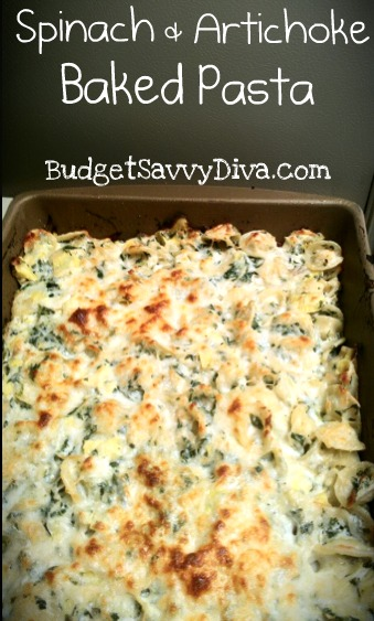 Spinach-Artichoke-Baked-Pasta