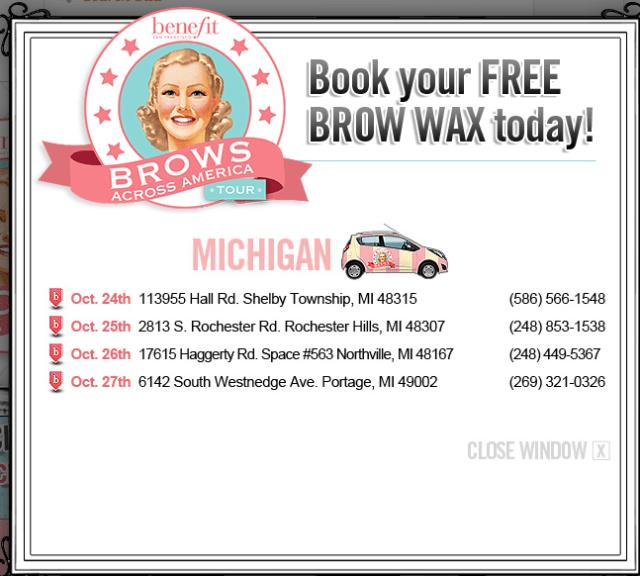 free benefit brow wax