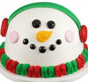 Baskin Robbins Snowman Cake
