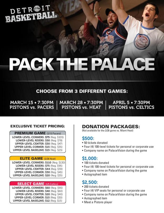 Pack the Palace Discounted Piston Tickets