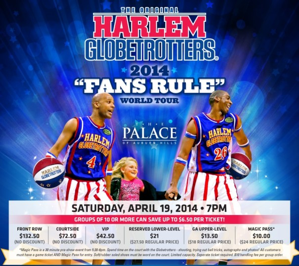 harlem globetrotters discounted tickets