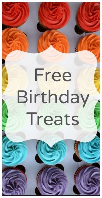 free birthday treats