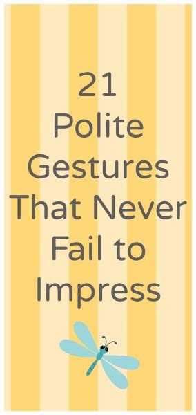 polite gestures