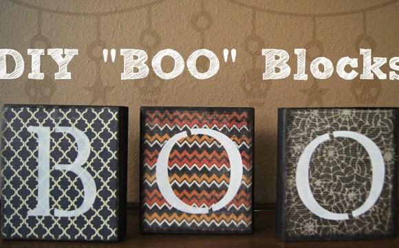 "DIY ""Boo"" Blocks"