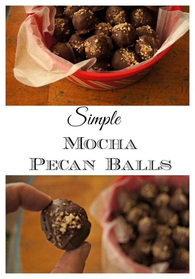 simple mocha pecan balls