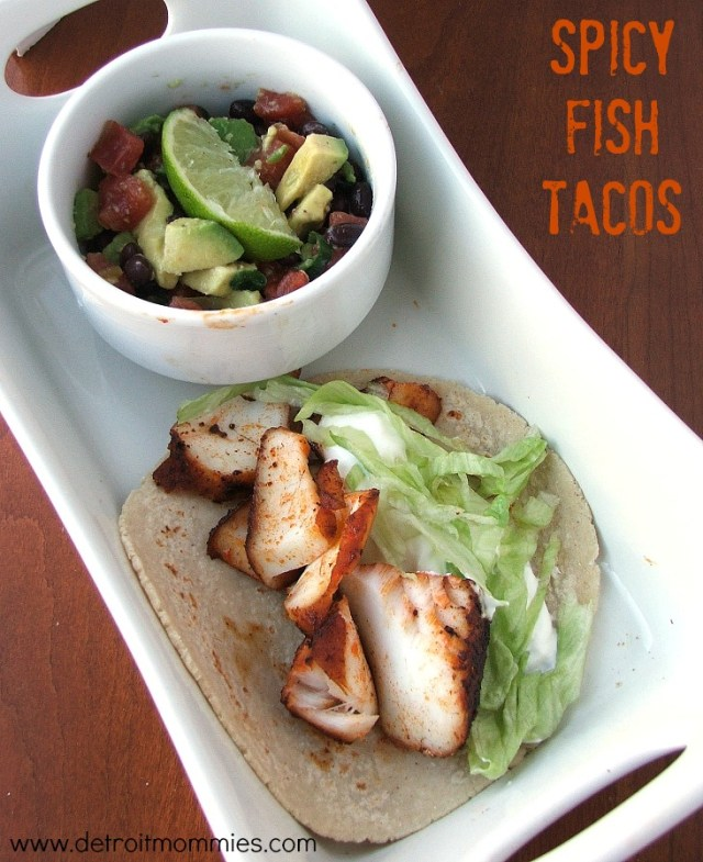 Spicy Fish Tacos from www.detroitmommies