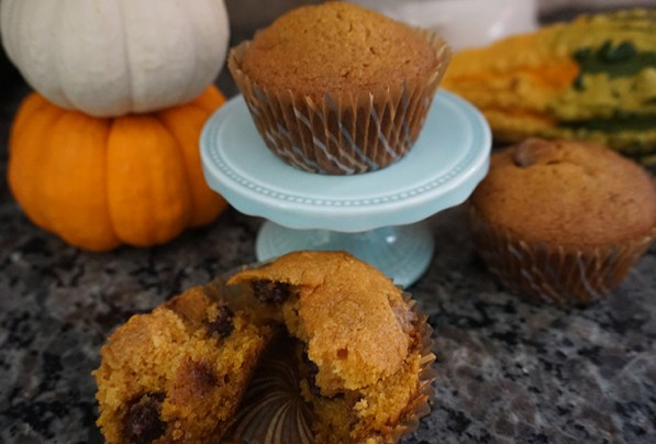 Detroit Mommies Gluten Free Chocolate Chip Pumpkin Muffins