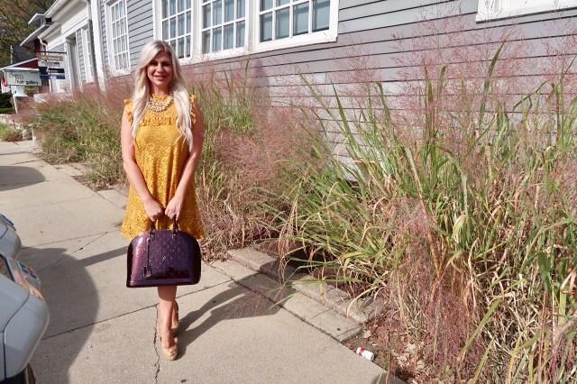 Shannon Lazovski Wears Yellow Dress at Rochester Brunch House