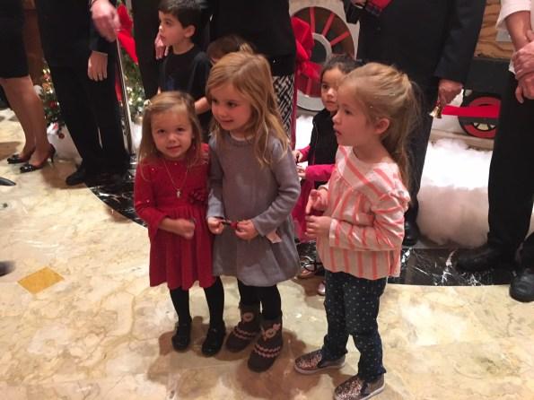 Kids at Gingerbread Express Ribbon Cutting