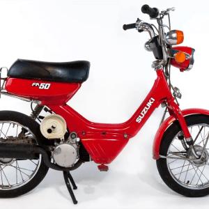 1985 Suzuki FA50 Shuttle red kickstart noped (SOLD)