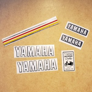 Yamaha QT50 reproduction decal set – without side cover decals