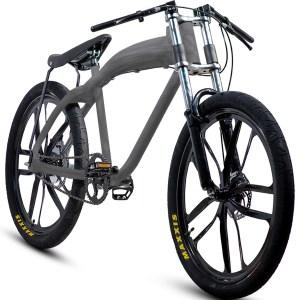 NEW stylish brushed aluminum motorized bicycle (with or without motor)