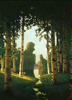 Описание картины А. И. Куинджи «Березовая роща»