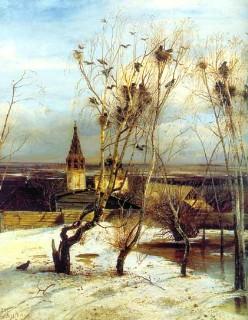 Описание картины А. К. Саврасова «Грачи прилетели»