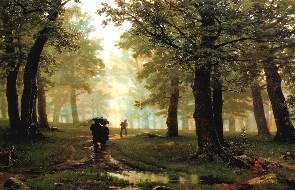Описание картины И. И. Шишкина «Дождь в дубовом лесу»