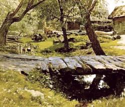 Описание картины И. И. Левитана «Мостик. Саввинская слобода»