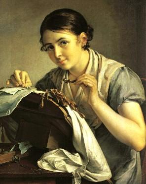 Описание картины В. А. Тропинина «Кружевница»