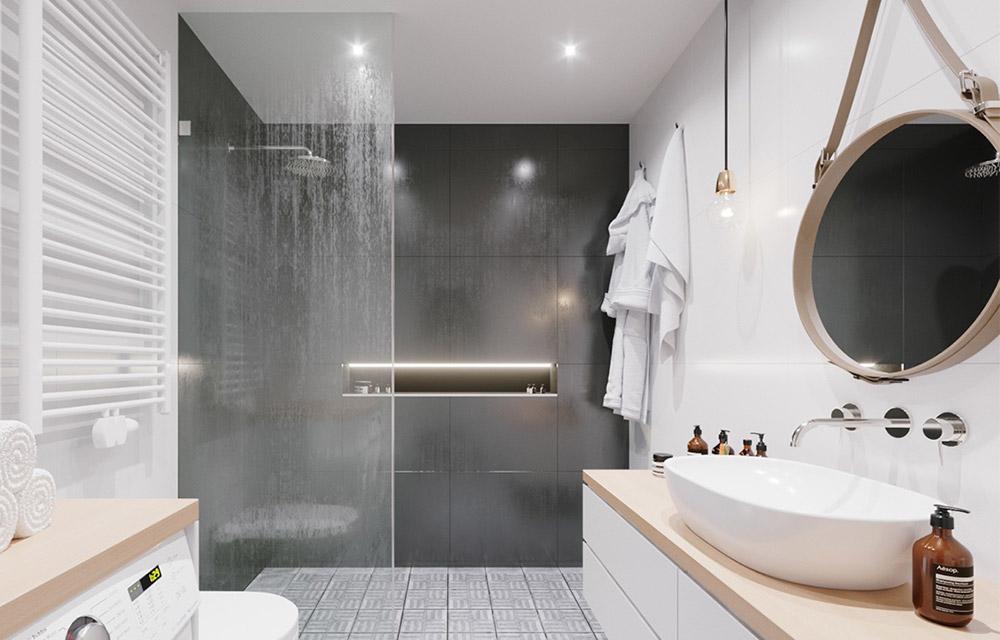 bagno moderno con doccia