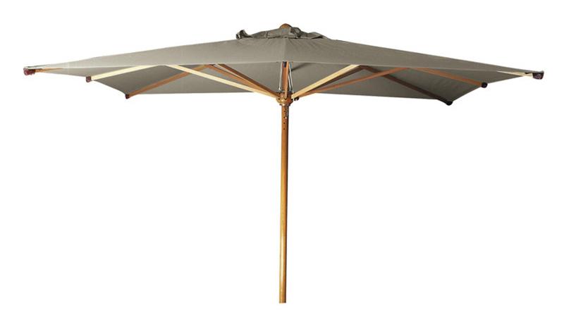 ombrellone orientabile in legno