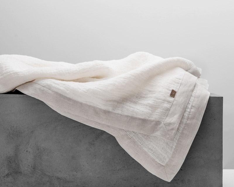 coperta lino bianco