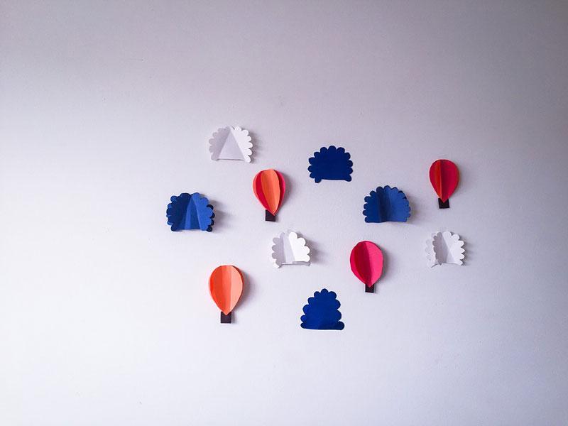 decorazioni di carta realizzate dai bambini