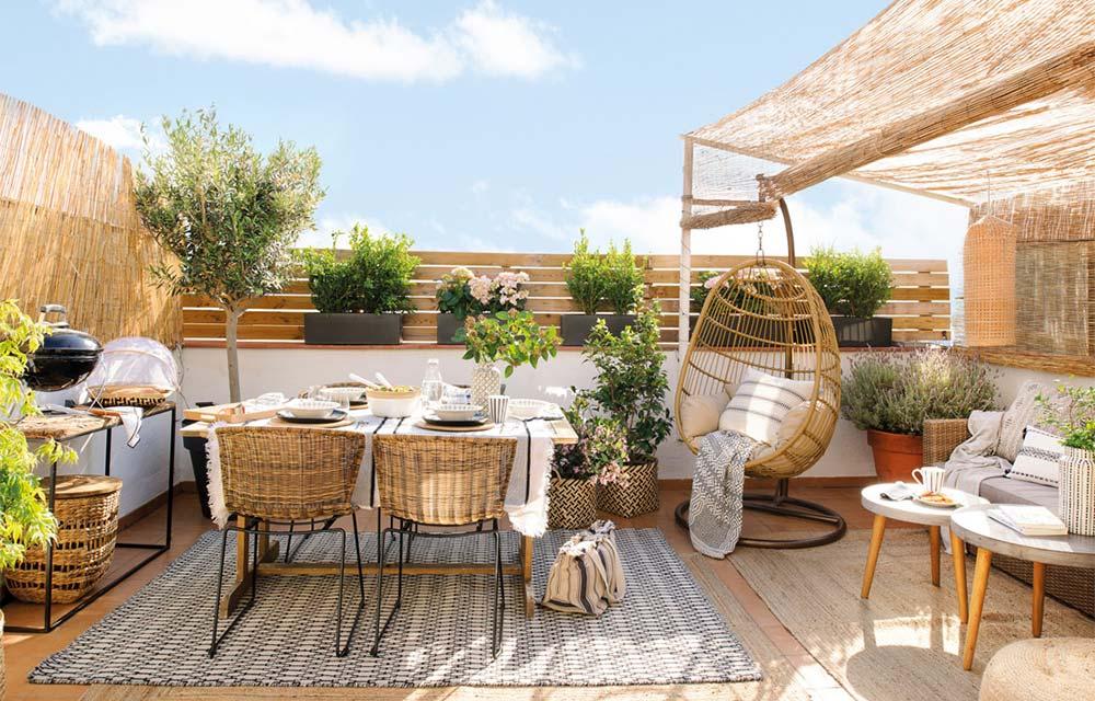 terrazza stile mediterraneo